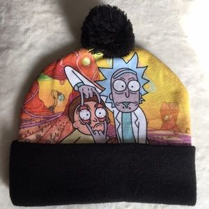 2 for 20 ❄️ NWOT Rick and Morty pom hat